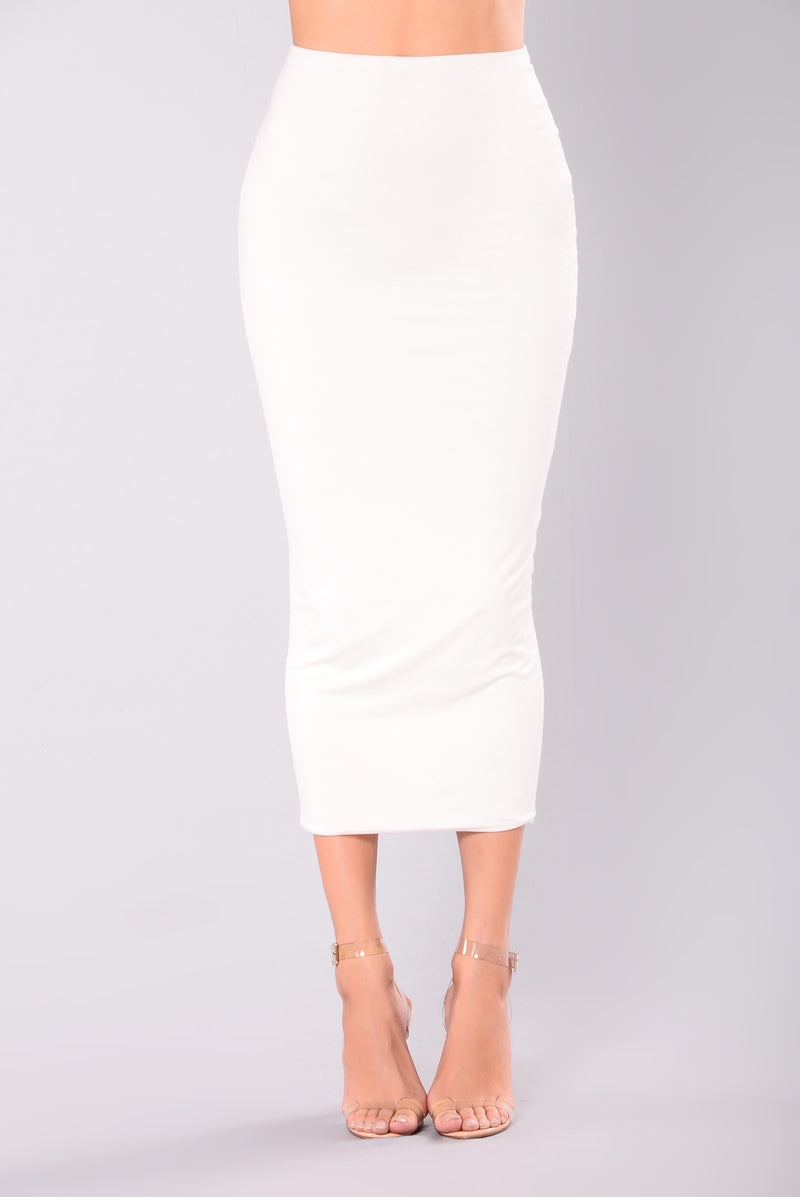 Couldn't Be Bothered Skirt - Ivory