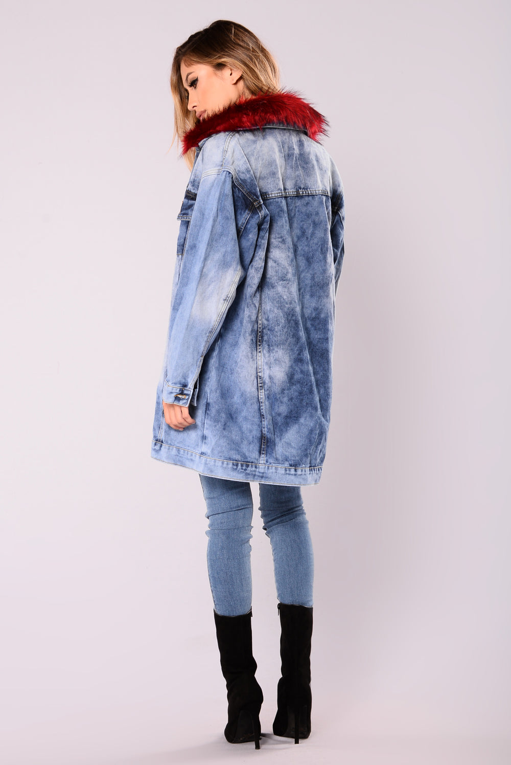 Furever And Always Denim Jacket - Light Wash