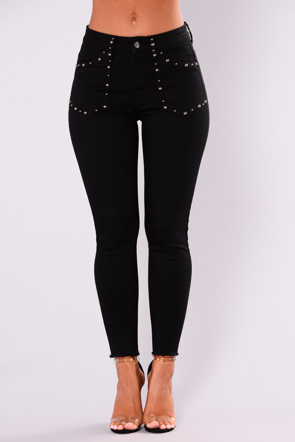 Day After Day Studded Jeans - Black
