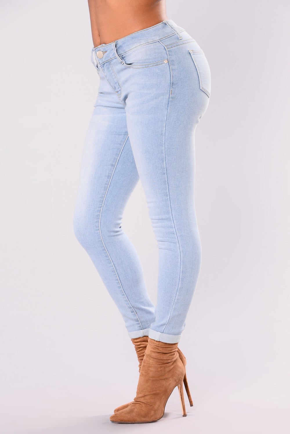 Sugar Baby Ankle Jeans - Light Blue Wash