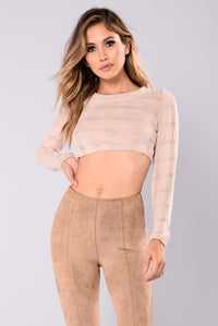 Paola Knit Crop Top - Cream