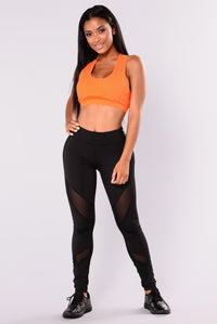 Kerry Active Sports Bra - Orange