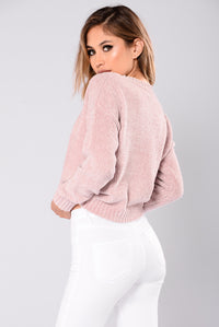 Zaccai Knit Sweater - Dusty Pink