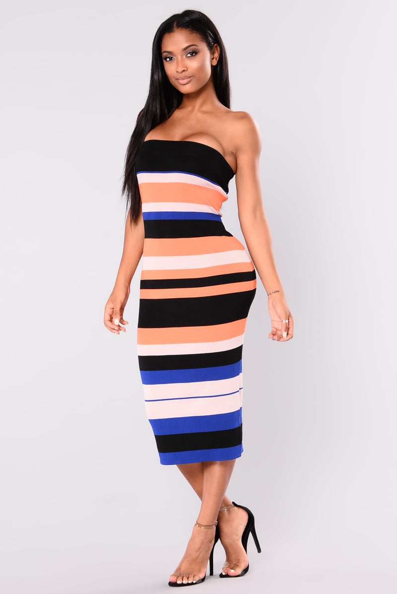 All You Got Striped Dress - Multi