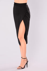 Dangerous Lines Midi Skirt - Black