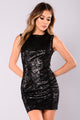 Liara Sequin Dress - Black