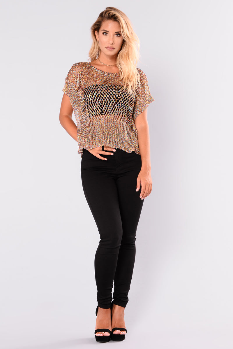 Arden Metallic Top - Multi/Rainbow