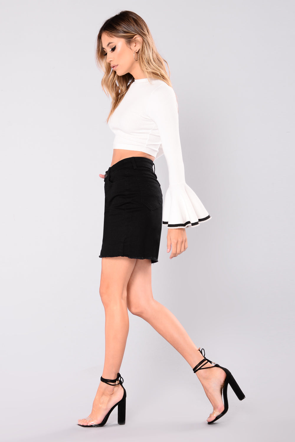 On To The Next Skirt - Black