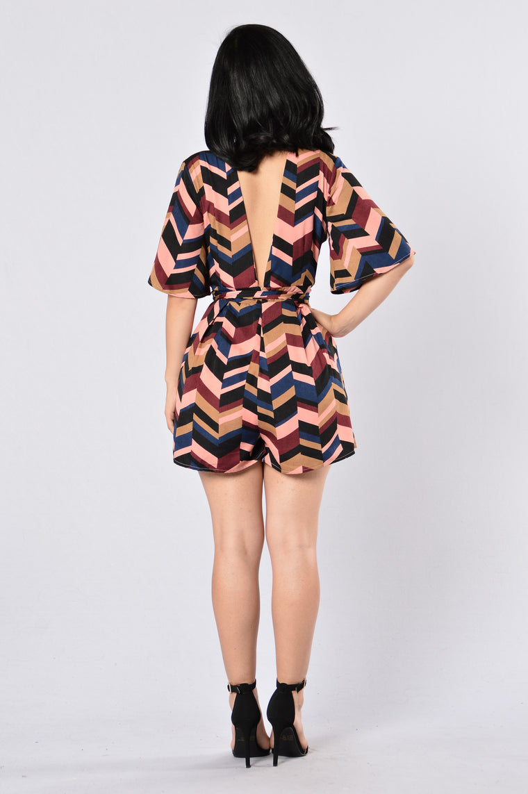 Dive In Romper - Coral