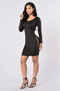 The Side Eye Dress - Black Angle 3