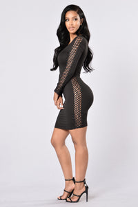 The Side Eye Dress - Black Angle 1