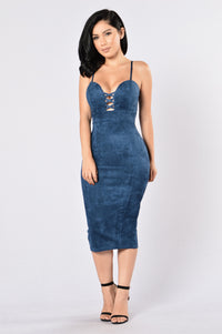 Properly Perfect Dress - Navy Blue Angle 1