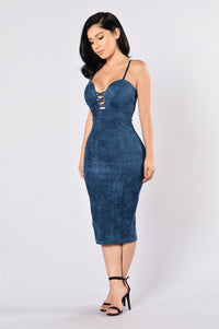 Properly Perfect Dress - Navy Blue Angle 3