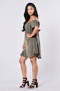 Only In Dreams Dress - Olive