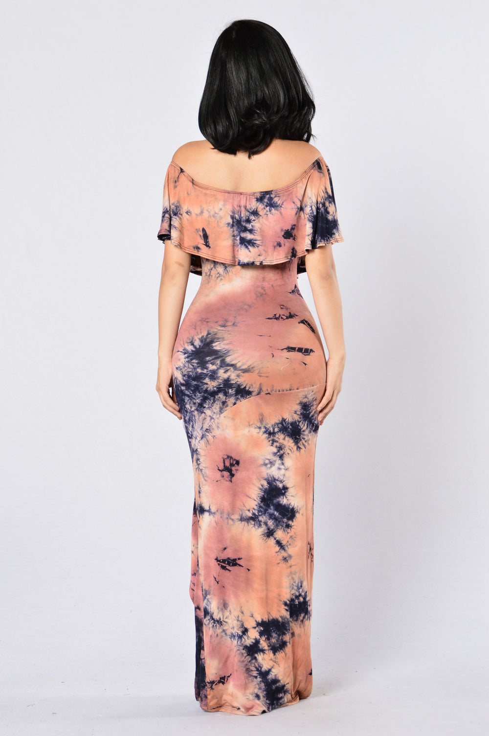 Tie Dye Doll Dress - Navy/Rust
