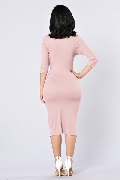 Double Take Dress - Mauve