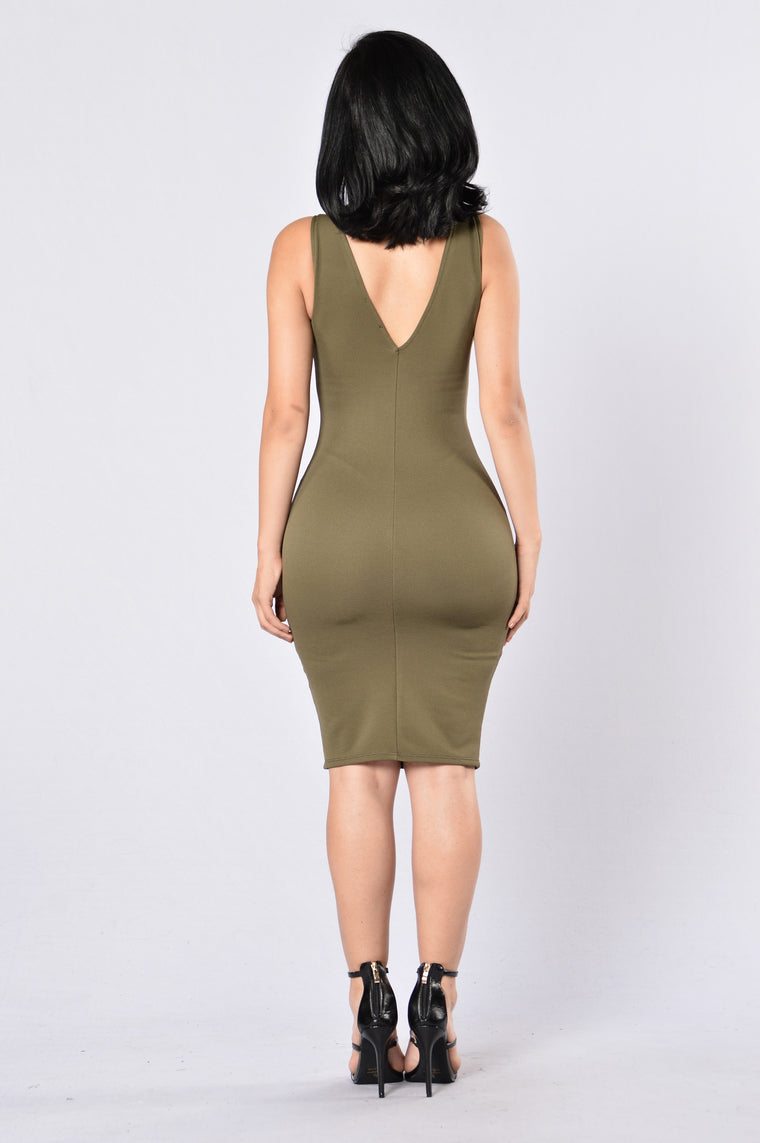 Love Triangle Dress - Olive