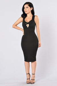 Love Triangle Dress - Black Angle 1