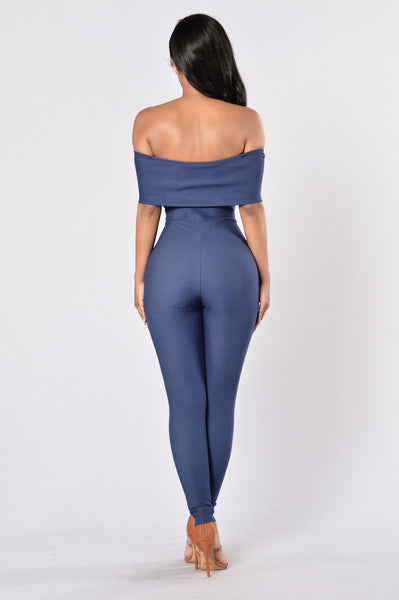 Sandy Jumpsuit - Denim Blue