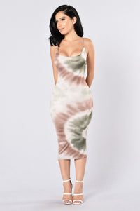 Born To Love Dress - Olive Angle 2