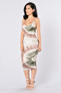 Born To Love Dress - Olive Angle 1