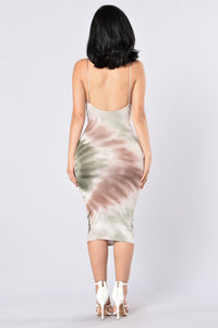 Born To Love Dress - Olive Angle 3