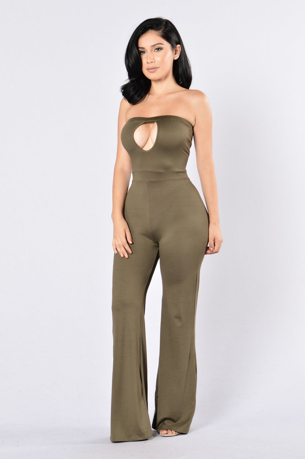 Key To My Heart Jumpsuit - Olive