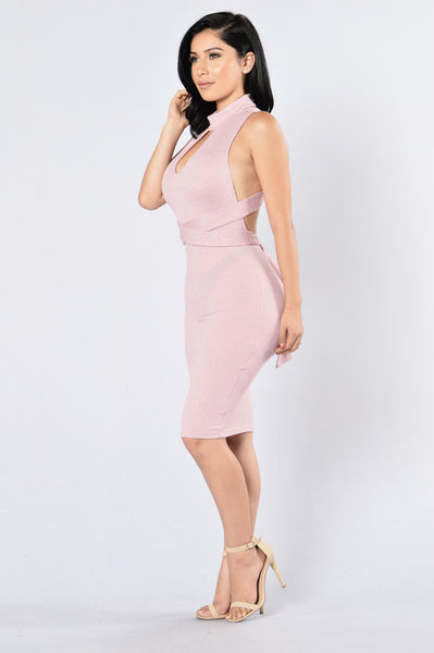 Tricky Business Dress - Blush