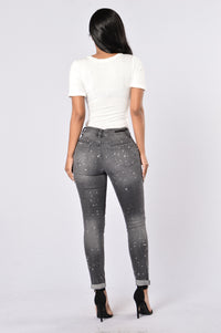 Caution: Wet Paint Jeans - Black Splatter Angle 5