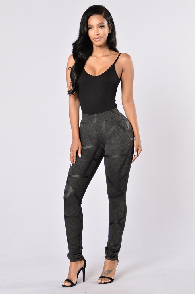 In Every Direction Ponte Pants - Charcoal