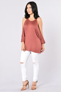 Cut It Out Top - Marsala