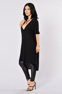 How You Doing? Tunic - Black Angle 2