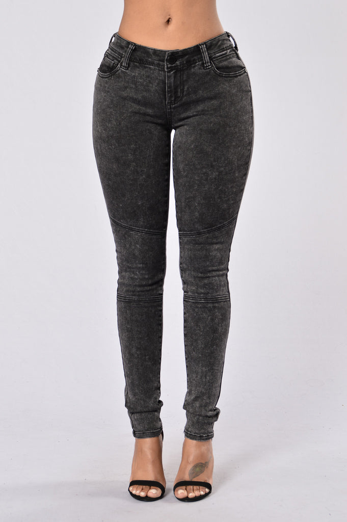 Darkened Nights Jeans - Black Marble