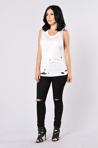 Get Ripped Tank Top - White