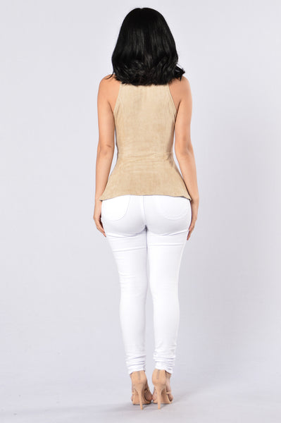 Sweet Like Sugar Top - Taupe