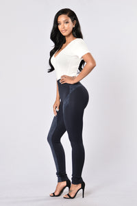 Persuasive in Suede Legging - Navy Angle 6