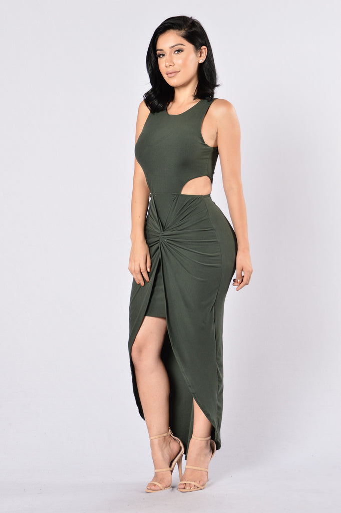 On The Sly Dress - Olive