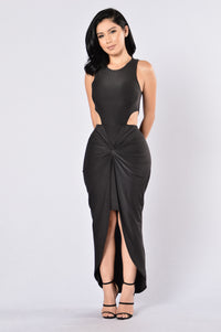 On The Sly Dress - Black Angle 1