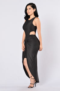 On The Sly Dress - Black Angle 3