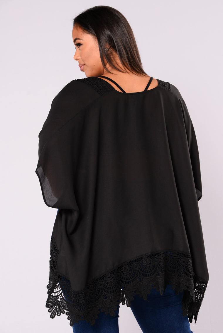 Love You More Kimono - Black