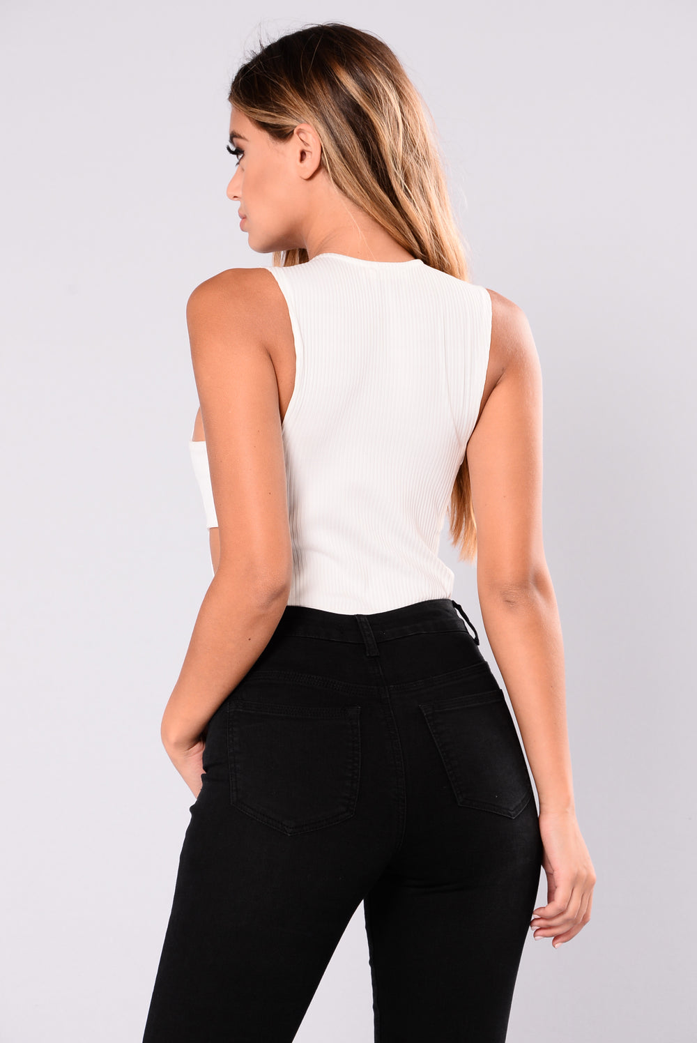 Gemma Cutout Bodysuit - White