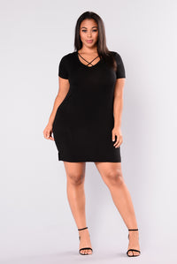 Only You Matter Dress - Black