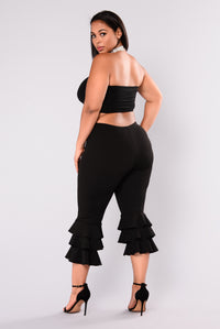 Margarita Ruffle Pants - Black Angle 11