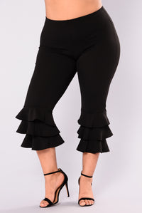 Margarita Ruffle Pants - Black Angle 8
