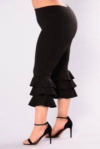 Margarita Ruffle Pants - Black Angle 10