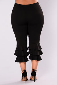 Margarita Ruffle Pants - Black Angle 9