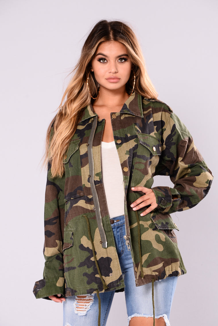 Aim To Misbehave Camo Jacket - Camo