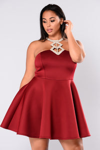 Want It All Dress - Burgundy