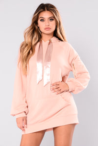 Vance Hooded Tunic - Blush