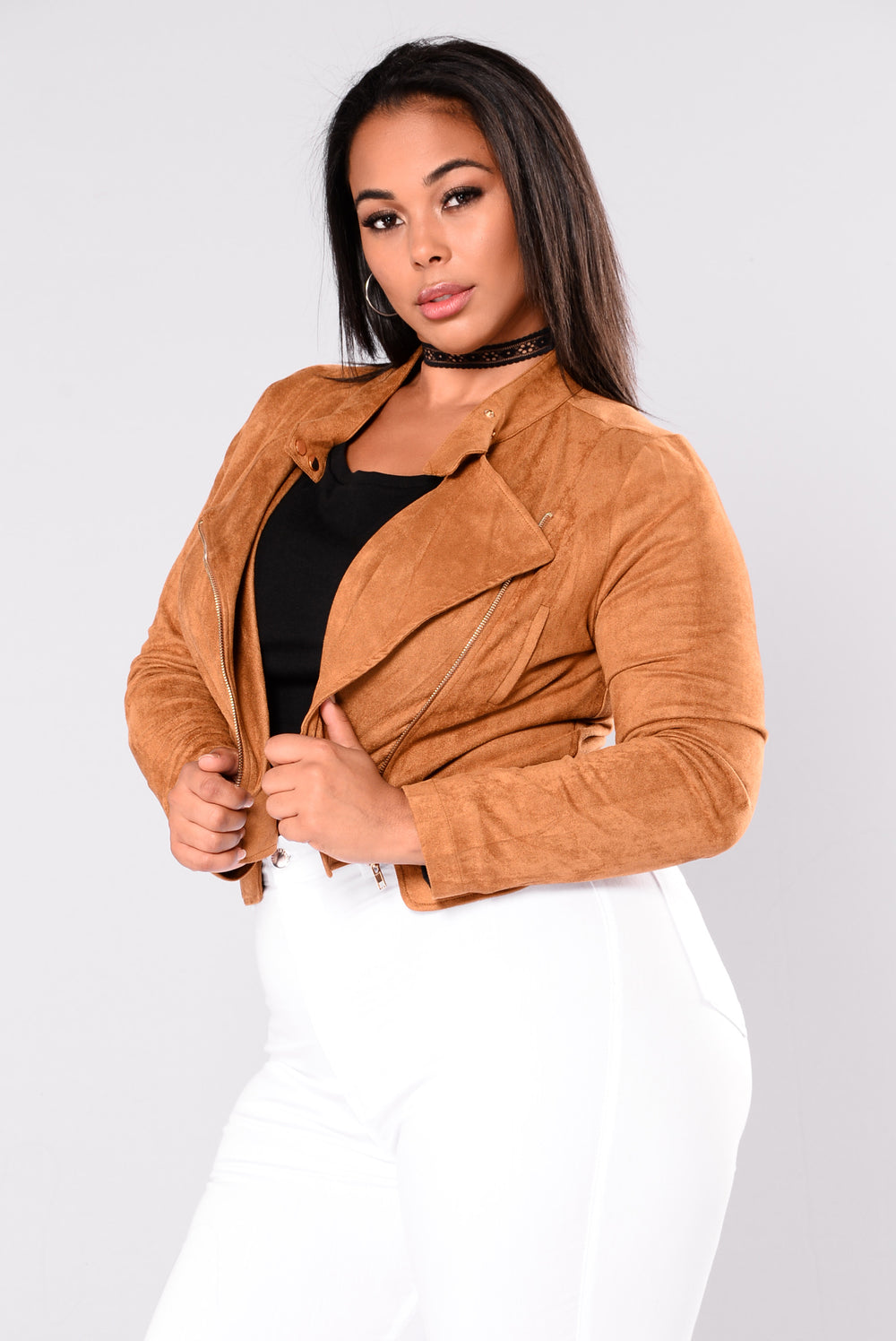All We Do Suede Jacket - Camel